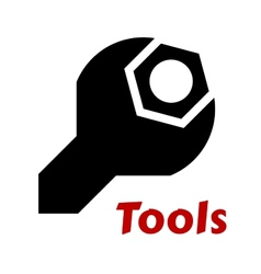 Spanner or wrench tool icon vector image
