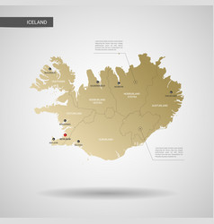 stylized iceland map vector image