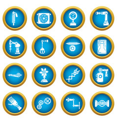 Technical mechanisms icons set simple style vector