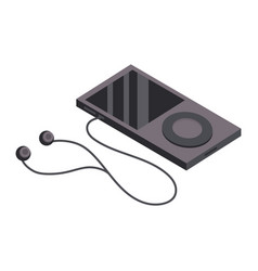 Technology mp3 with headphones to listen to music vector