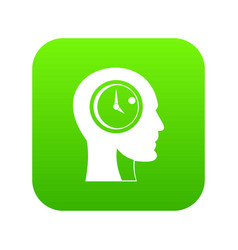 time management icon digital green vector image