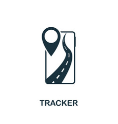 Tracker icon simple element from technology vector