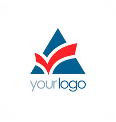 triangle check mark logo vector image