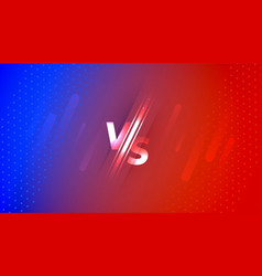 Versus vs screen banner in red and blue gradient vector