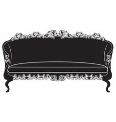 Vintage upholstered sofa vector