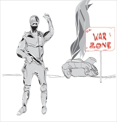 war zone vector image