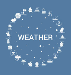 Weather icon set infographic template vector