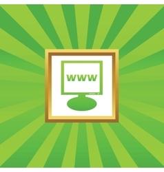 WWW monitor picture icon vector
