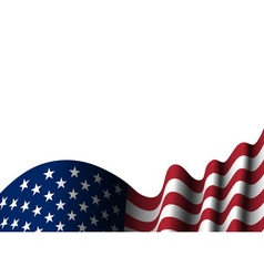 american flag isolated vector image