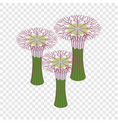 botanical garden in singapore isometric icon vector image vector image