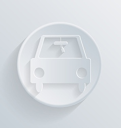 circle icon with a shadow car vector image