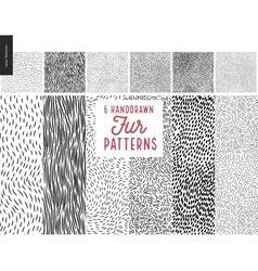 Handdrawn patterns vector image vector image