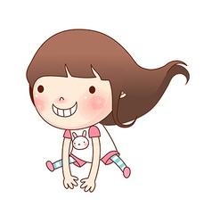 Portrait of girl vector image