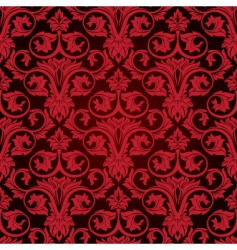 red seamless wallpaper vector image vector image