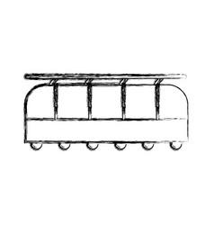 sketch draw train cartoon vector image