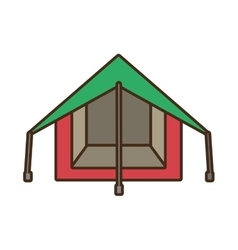 tourism tent camping excursions green and pink vector image vector image