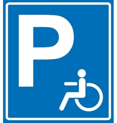 Disabled person parking sign banner on vector image