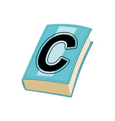 Letter C on cover of retro books Concept of vector image vector image