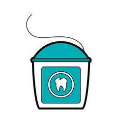 Floss dental care related icon image vector