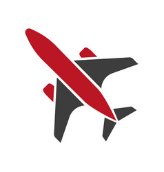 flying black and red aircraft hand drawn isolated vector image