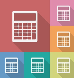 Icon of Calculator vector image vector image