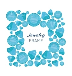 Jewelry frame with diamonds of different size vector