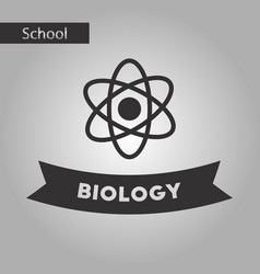 black and white style icon biology molecule vector image