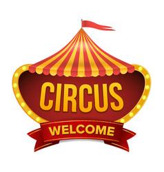 circus sign carnival light bulb frame vector image
