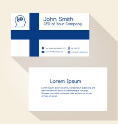 Finland flag color business card design eps10 vector