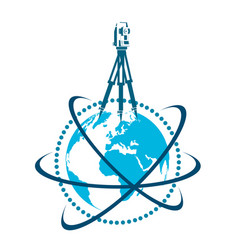 geodesic device and globe symbol vector image vector image
