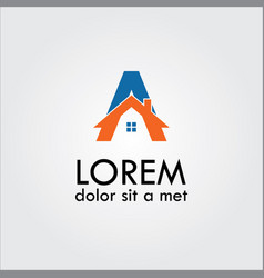 home letter a logo vector image