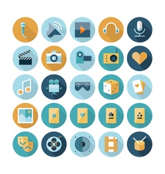 icons flat line leisure vector image vector image