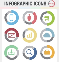 Information Graphics icons set vector image