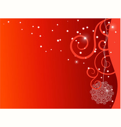red ornate x-mas backdrop vector image vector image