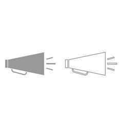 retro loudspeaker it is black icon vector image vector image