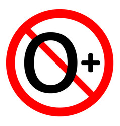 0 age restriction sign vector