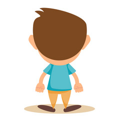 a back view of a young boy on a vector image