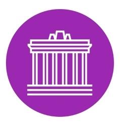 Acropolis of athens line icon vector