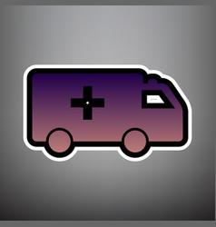 ambulance sign violet vector image