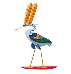 Ancient egypt sacred bird ibis vector