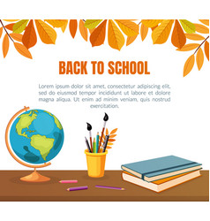 back to school banner template with space for text vector image