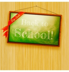 Back to school written with chalk EPS10 vector