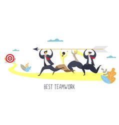 best teamwork poster banner design template vector image
