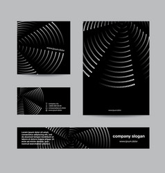 black branding and corporate identity set vector image