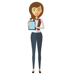 blond business woman character using vector image