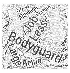 Bodyguard Jobs Word Cloud Concept vector