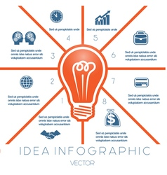 Business concept light bulb infographic 8 vector