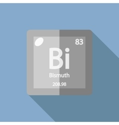 Chemical element Bismuth Flat vector image