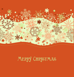 christmas seasonal background snowflakes border vector image
