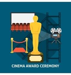 Cinema award ceremony vector